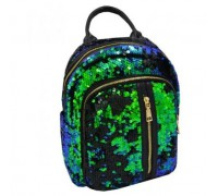 Рюкзак с пайетками Sequins green + кошелек