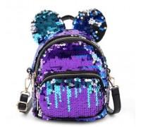 Рюкзак с ушками и пайетками