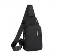 Рюкзак St. Gough (черный) через одно плечо