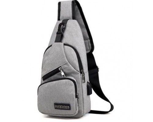 Рюкзак MeiJieLuo (gray) через плечо