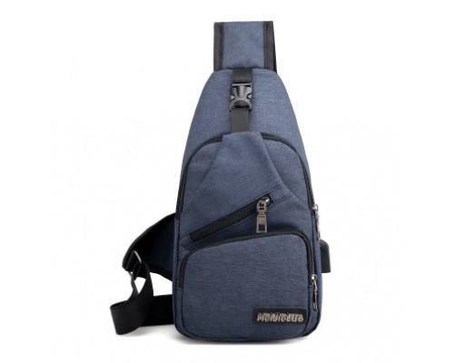 Рюкзак MeiJieLuo (blue) с одной лямкой